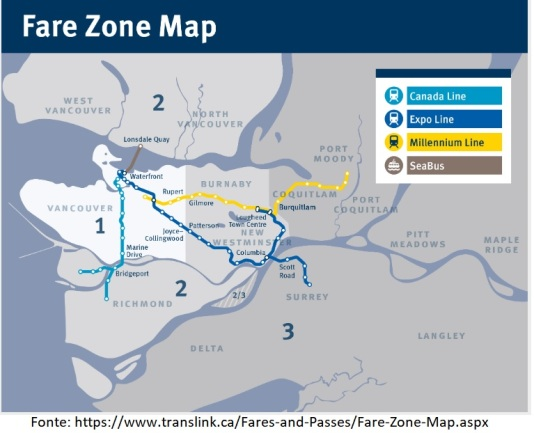 Zonas transporte Vancouver