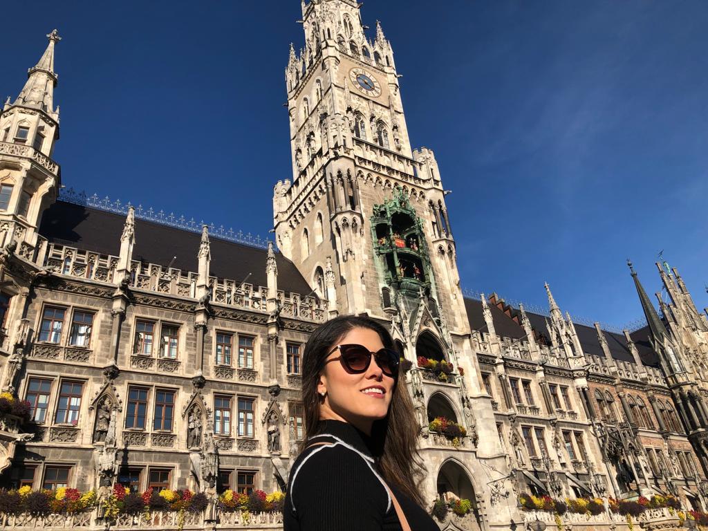 Cartão Postal de Munique - prefeitura arquitetura gótica