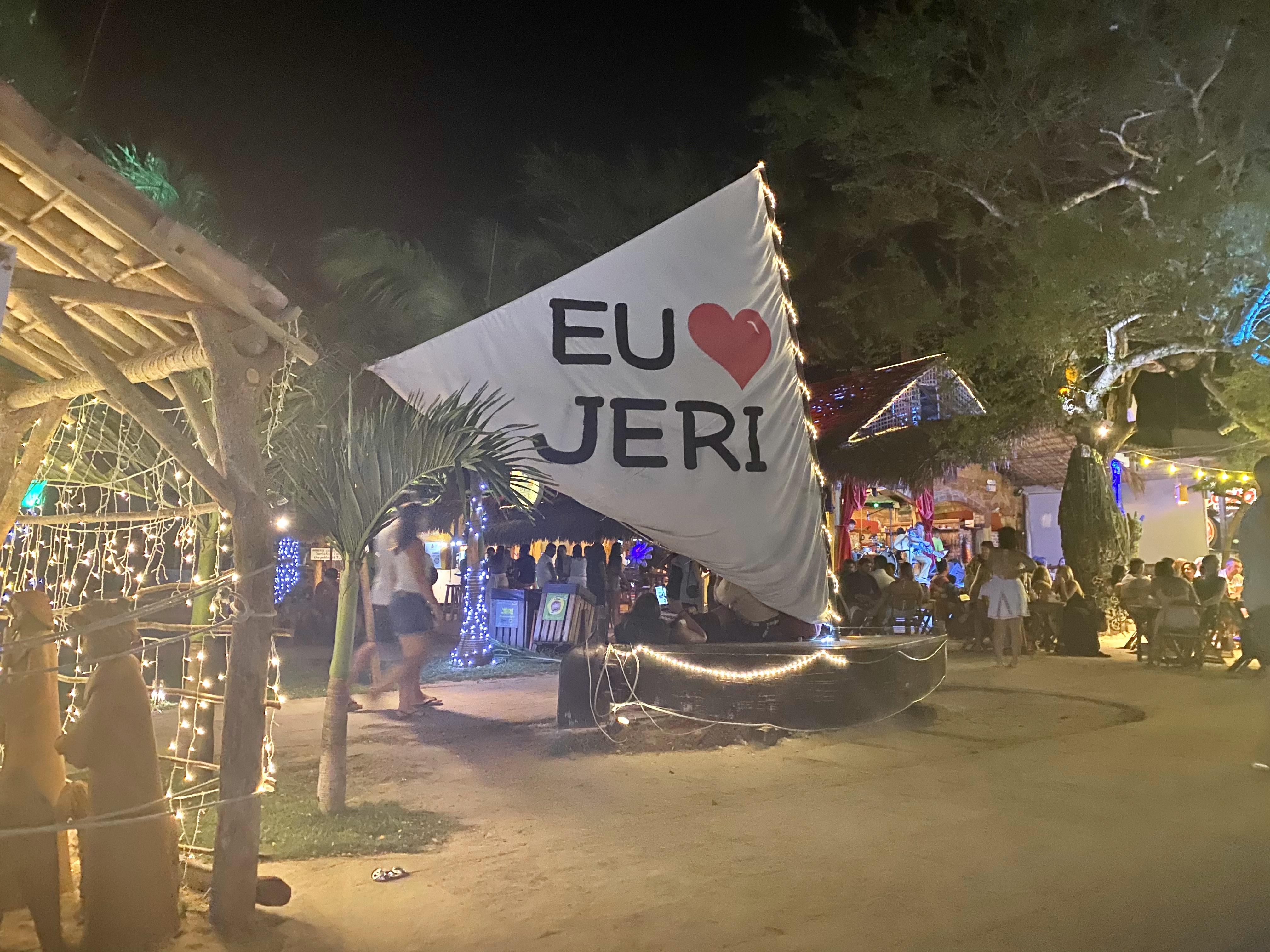 centro da vila de Jericoacoara e praça
