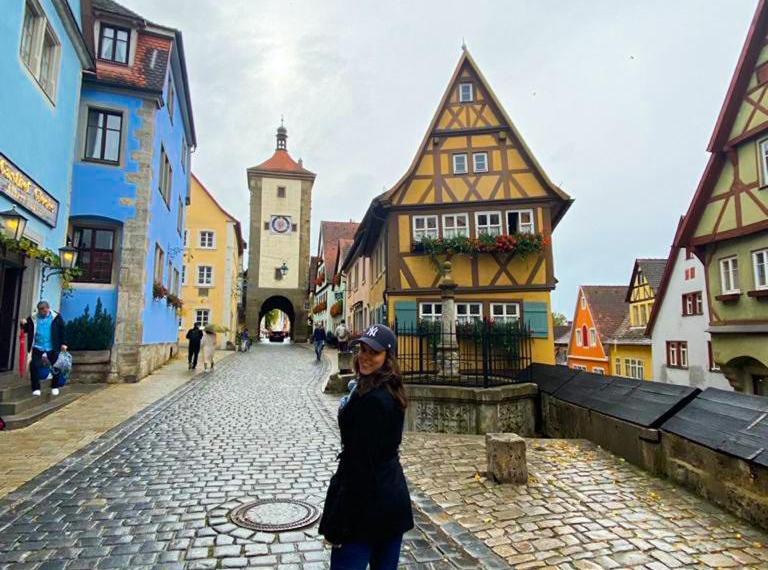 Rothenburg ob der Tauber - foto mais tradicional na cidade medieval